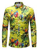 رخيصةأون فساتين نسائية-رجالي قميص بوهو قوس قزح / كم طويل