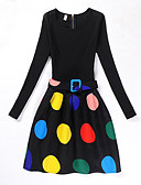 זול שמלות מודפסות-בנות וינטאג' / יום יומי מכנסיים - דפוס שחור / בית הספר / כותנה / בית הספר