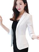 זול בגדי שינה והלבשה תחתונה לנשים-בגדי ריקוד נשים לבן שחור ורוד מסמיק L XL XXL ג'קט רשמי / עבודה אחיד צווארון V