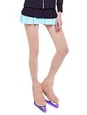 baratos Vestidos de Patinação no Gelo-Meia Calça de Patinação Mulheres / Para Meninas Patinação no Gelo Leggings Khaki Elastano Com Stretch Roupa para Patinação Sólido / Lantejoula Patinação Artística