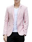 זול גברים-ג'קטים ומעילים-אחיד פשוט בלייזר-בגדי ריקוד גברים / שרוול ארוך / עבודה