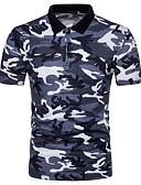 זול סוודרים וקרדיגנים לגברים-אחיד כותנה, Polo - בגדי ריקוד גברים / שרוולים קצרים