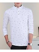 baratos Camisetas & Regatas Masculinas-Homens Camiseta Moda de Rua Colarinho Chinês / Manga Longa
