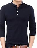 hesapli Erkek Tişörtleri ve Atletleri-Erkek Dik Yaka Tişört Solid / Uzun Kollu