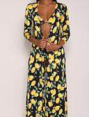 ieftine Tricou-Pentru femei Sexy / Boho Galben Tankini Costume de Baie - Geometric Imprimeu M L XL