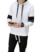 זול טרנינגים וקפוצ'ונים לגברים-עם קפוצ'ון אחיד activewear הגדר רזה שרוול ארוך מידות גדולות סגנון רחוב ספורט בגדי ריקוד גברים