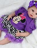 tanie Damskie bluzy z kapturem-NPK DOLL Lalki Reborn Dziewczynki 22 in Silikon Winyl - Jak żywy Śłodkie Wyrób ręczny Bezpieczne dla dziecka Nietoksyczne Słodkie Dzieciak Dla dziewczynek Zabawki Prezent / Certyfikat CE