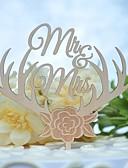 رخيصةأون زينة الكيك-كعكة توبر كلاسيكيClassic Theme الزفاف قطع خشبي/بامبو زفاف عيد ميلاد مع فراغ جانبي 1 OPP