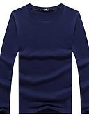 billige Hettegensere og gensere til herrer-Rund hals T-skjorte Herre - Ensfarget Gatemote / Langermet