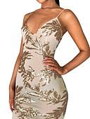 זול שמלות נשים-צווארון V מותניים גבוהים מיני דפוס, גיאומטרי - שמלה גזרת A / צינור סקיני מתוחכם ליציאה בגדי ריקוד נשים / סקסית