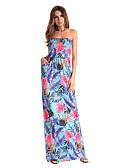 זול שמלות נשים-עד הברך דפוס, פרחוני - שמלה סווינג חמוד סגנון רחוב בגדי ריקוד נשים