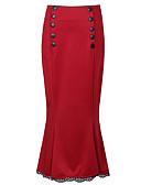 זול חצאיות לנשים-מפוצל אחיד - חצאיות כותנה ליציאה צינור מידות גדולות בגדי ריקוד נשים מותניים גבוהים