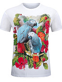 cheap Men's Tees & Tank Tops-Men's Sports Basic Street chic Plus Size Cotton T-shirt - Geometric Animal, Print Round Neck