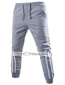 ieftine Pantaloni Bărbați si Pantaloni Scurți-Bărbați Bumbac Pantaloni Sport Pantaloni - Imprimeu, Dungi