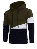 povoljno Muške jakne i kaputi-Muškarci Dugih rukava Hoodie Color block S kapuljačom
