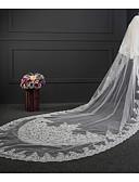 זול הינומות חתונה-שתי שכבות שכבה כפולה הינומות חתונה צעיפי קתדרלה עם ריקמה טול / קלאסי
