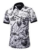 cheap Women's Bottoms-Men's Exaggerated Plus Size Cotton Slim Polo - Graphic Print Shirt Collar / Short Sleeve / Club