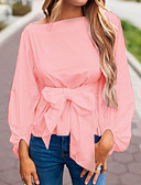 cheap Women's Blouses-Women's Going out Basic Slim Blouse - Solid Colored