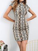 preiswerte Damen Kleider-Damen Ausgehen Street Schick Schlank Hülle Kleid - Druck, Tier Mini Rundhalsausschnitt