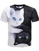 billige Tights-Rund hals T-skjorte Herre - Fargeblokk / Dyr Gatemote / Punk & Gotisk / Kortermet