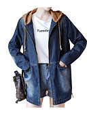 cheap Women's Denim Jackets-Women's Cotton Denim Jacket - Solid Colored