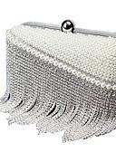cheap Women's Belt-Women's Bags Polyester Evening Bag Crystals / Pearls / Tassel Beige