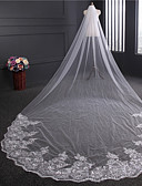 cheap Wedding Veils-One-tier Vintage Style Wedding Veil Cathedral Veils 53 Paillette Tulle