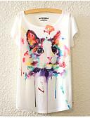 tanie T-shirt-T-shirt Damskie Podstawowy Święto Luźna - Zwierzę