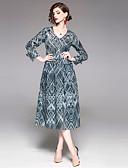 cheap Women's Dresses-EWUS Women's Vintage Basic A Line Sheath Dress - Geometric V Neck