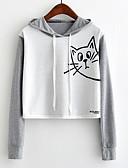cheap Women's Hoodies & Sweatshirts-Women's Basic Hoodie - Color Block / Cartoon / Spring