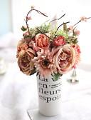 זול טישרטים לגופיות לגברים-פרחים מלאכותיים 6 ענף ארופאי / פרחי חתונה ורדים פרחים לשולחן