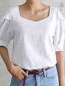 tanie T-shirt-Puszysta T-shirt Damskie Podstawowy Święto Kwadratowy dekolt Luźna - Solidne kolory / Lato