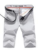 tanie Męskie spodnie i szorty-Męskie Moda miejska Rozmiar plus Bawełna Szczupła Typu Chino / Krótkie spodnie Spodnie Jendolity kolor Niski stan / Sport