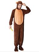 tanie Koszulki i tank topy męskie-Dla dorosłych Piżama Kigurumi Małpa Piżama Onesie Plusz Brązowy Cosplay Dla Animal Piżamy Rysunek Halloween Festiwal/Święto