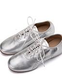 abordables Blazers y Chaquetas de Mujer-Mujer Zapatos de Jazz Cuero de Napa Plano / Oxford Tacón Plano Personalizables Zapatos de baile Dorado / Negro / Plata