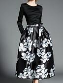 זול חולצה-מקסי פרחוני - שמלה נדן בסיסי בגדי ריקוד נשים / אביב