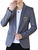 cheap Men's Blazers & Suits-Men's Blazer-Print,Print / Long Sleeve