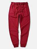 cheap Women's Belt-Men's Plus Size Chinos Pants - Solid Colored Print