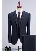 זול טישרטים לגופיות לגברים-כחול נקודות גזרה רגילה פוליאסטר חליפה - סגור צר Single Breasted Two-button