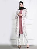 זול מעילים ובלשיות לנשים-אחיד צווארון V מעיל - בגדי ריקוד נשים, תחרה