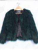 זול מעיל פרווה-אחיד בסיסי מעיל פרווה-בגדי ריקוד נשים,פרנזים