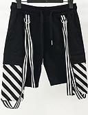 זול מכנסיים ושורטים לגברים-בגדי ריקוד גברים סגנון רחוב שורטים מכנסיים פסים
