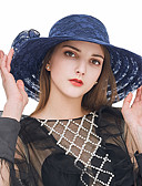cheap Women's Hats-Women's Lace Sun Hat - Solid Colored Lace / Cute / Fabric / Summer