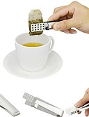 cheap Men's Blazers & Suits-Stainless Steel Tea Bag Clip Teabag Squeezer Holder Heat Resistant Mini Food Tong Kitchen Tools