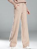 tanie Sukienki-Damskie Bawełna Luźna Spodnie szerokie nogawki / Typu Chino Spodnie Jendolity kolor / Wiosna / Lato / Urlop
