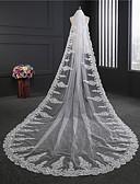 رخيصةأون طرحات الزفاف-One-tier كلاسيكي الحجاب الزفاف Cathedral Veils مع كريستال / أحجار الراين تول