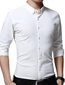 זול חולצות לגברים-אחיד רזה עבודה מידות גדולות כותנה, חולצה - בגדי ריקוד גברים / שרוול ארוך