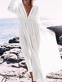 זול 2017ביקיני ובגדי ים-מידה אחת אחיד, בגדי ים כיסוי חצאית לבן שחור סטרפלס בגדי ריקוד נשים / סקסית