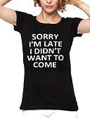 povoljno Majica s rukavima-Majica s rukavima Žene Dnevno Slovo