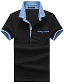 זול חולצות פולו לגברים-קולור בלוק צווארון חולצה רזה כותנה, Polo - בגדי ריקוד גברים